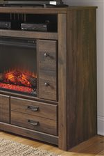Media Chest is Compatible with Fireplace Insert