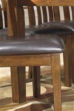 Upholstered Slat-Back Chair