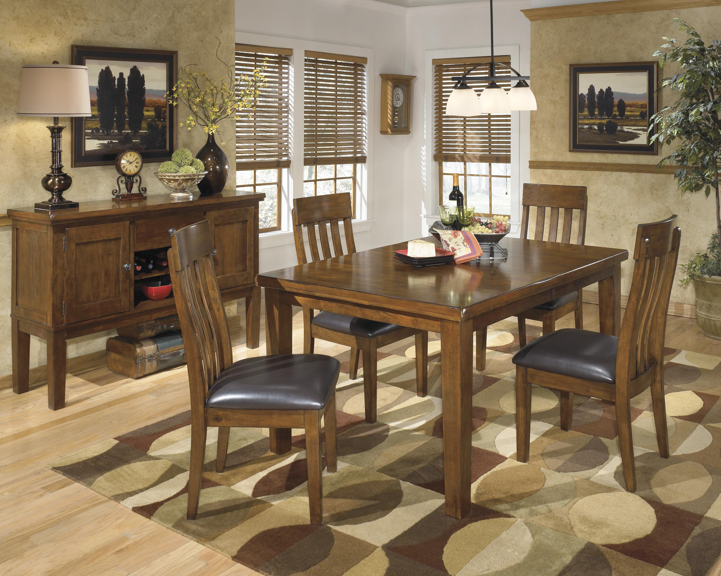 signature design by ashley ralene casual rectangular butterfly leaf dining table wayside furniture dining tables