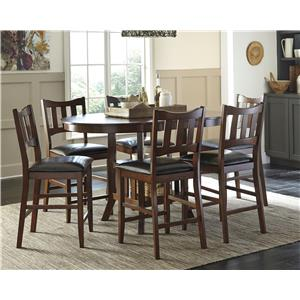 Signature Design by Ashley Renaburg 7-Piece Oval Counter Extension Table with Storage Set