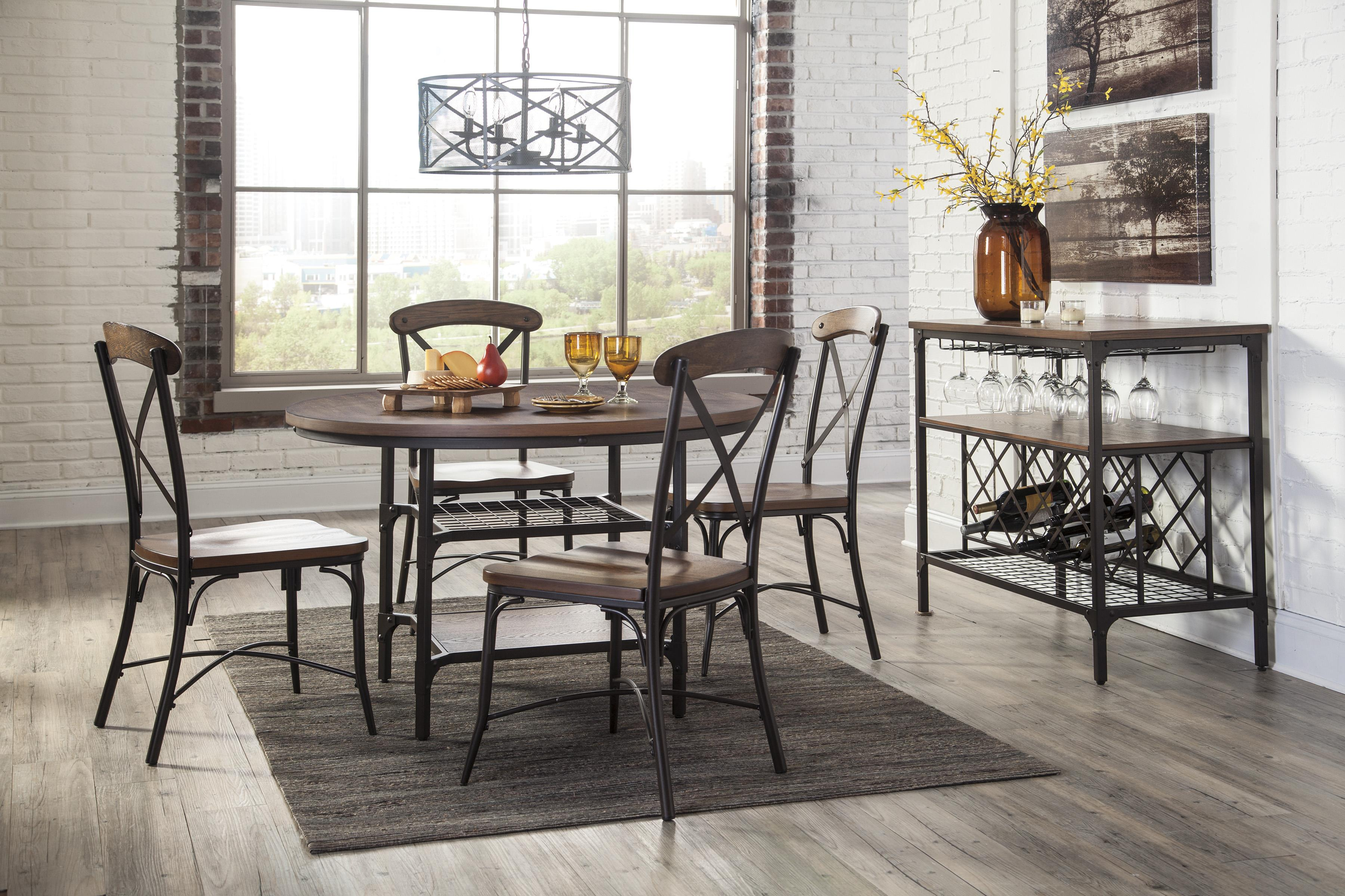 Signature Design By Ashley Rolena Bistro Style Metal/Wood Dining Room Side  Chair   Colderu0027s Furniture And Appliance   Dining Side Chairs