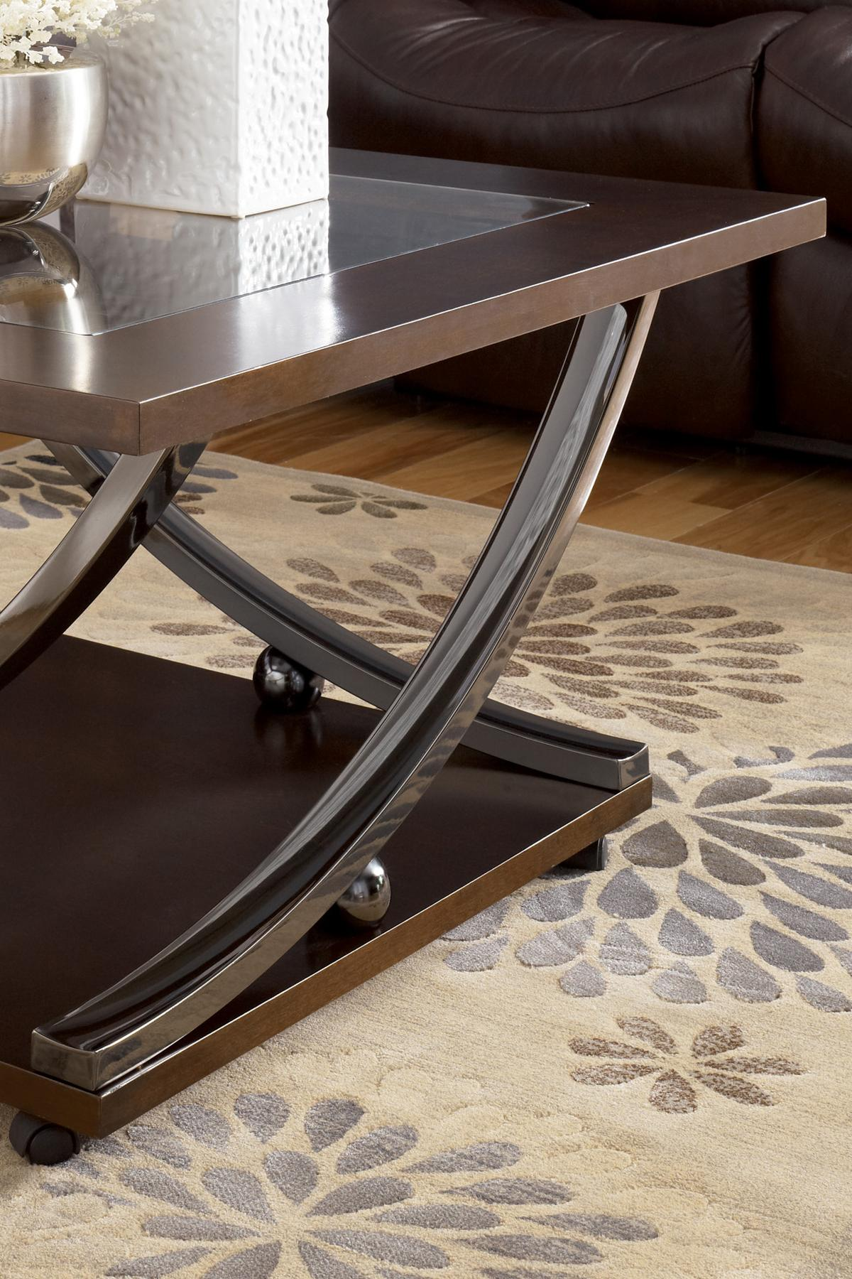Signature Design By Ashley Rollins Square End Table   Michaelu0027s Furniture  Warehouse   End Table