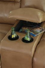 Storage Console and Inset Cup Holders