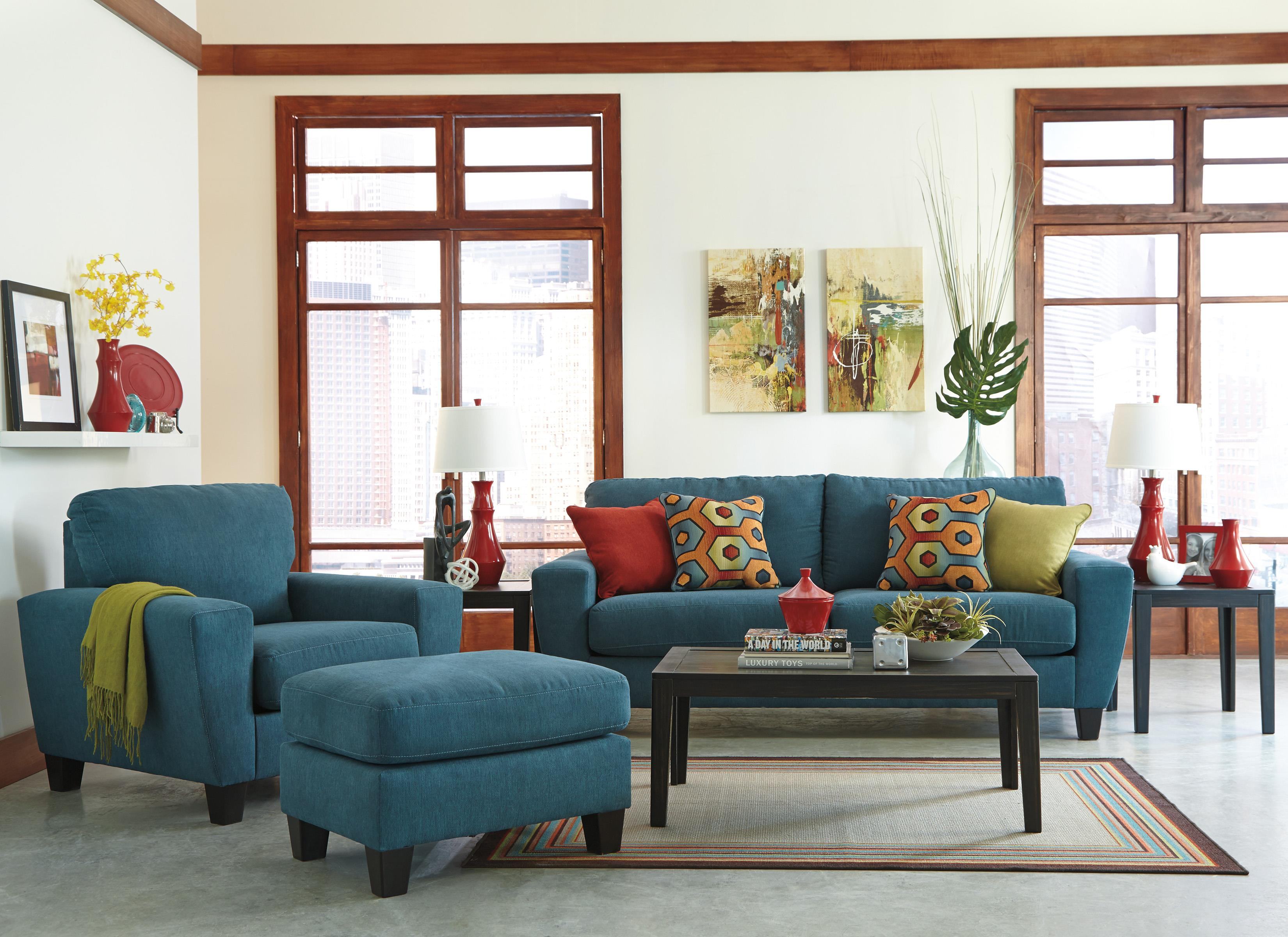 Signature Design by Ashley Sagen Contemporary Sofa with Shaped
