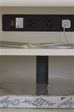 Built-In Power Strip in Credenza