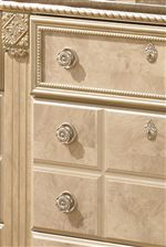 Framed Top Drawers with Gilded Bead and Rope Details
