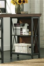 Large Desk with Bookcase Storage Bases