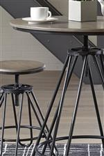 Adjustable Table and Stools