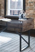 Acacia Veneer and Metal Frame Desk