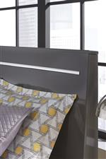 Signature Design by Ashley Steelson Contemporary King Panel Bed with Chrome Accent