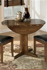 Round Table with Drop Leaf