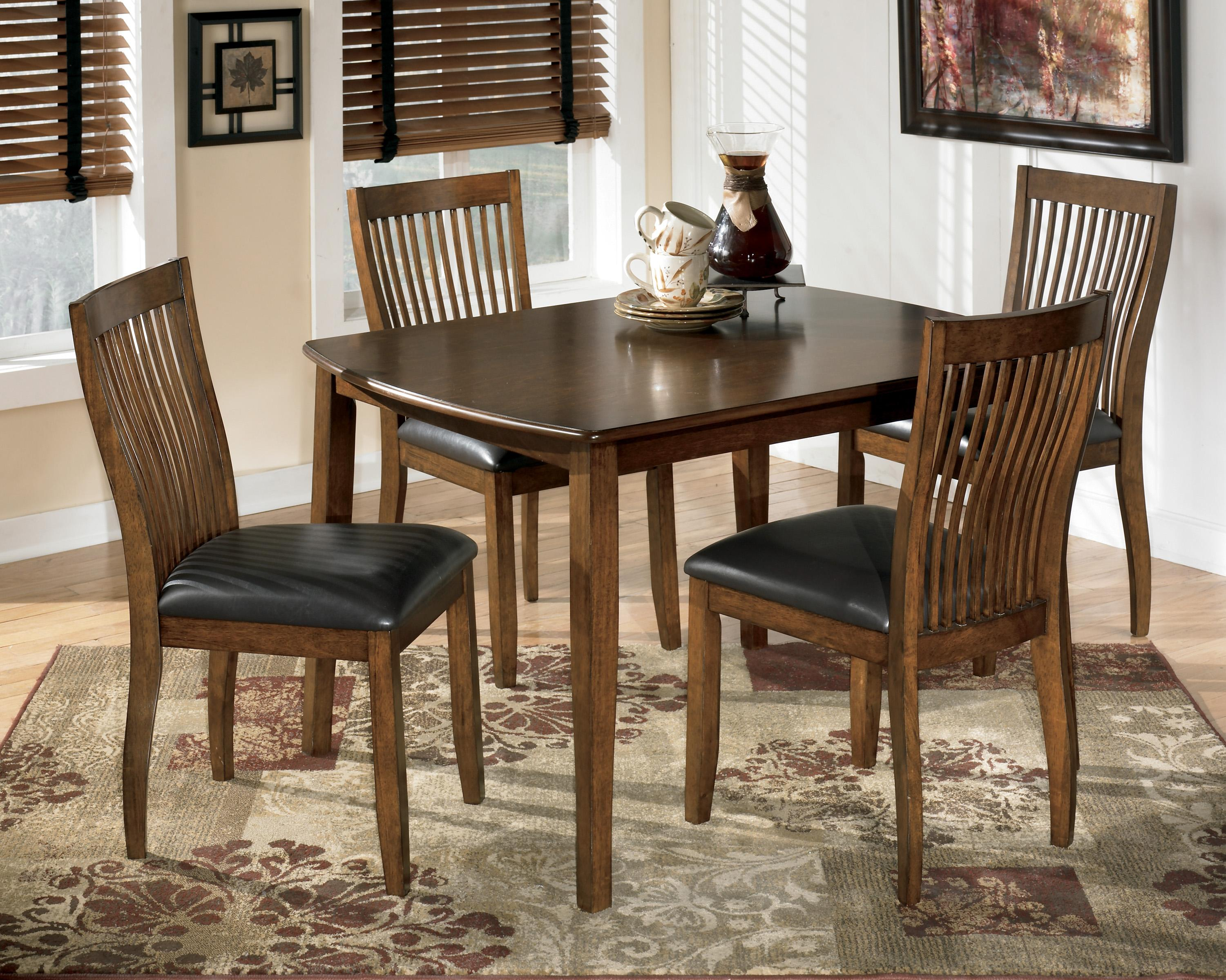 Dinning Room Table Set Signature Design By Ashley Stuman 5 Piece Rectangular Dining Room