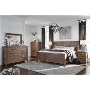 Signature Design by Ashley Tamilo King Wood Panel Bed