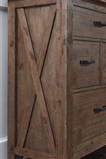 Dresser Cross Buck Side Overlay