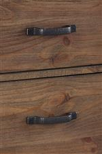 Nightstand Industrially-Styled Drawer Handles