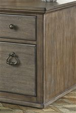 Traditional Style Hardware on File Cabinet