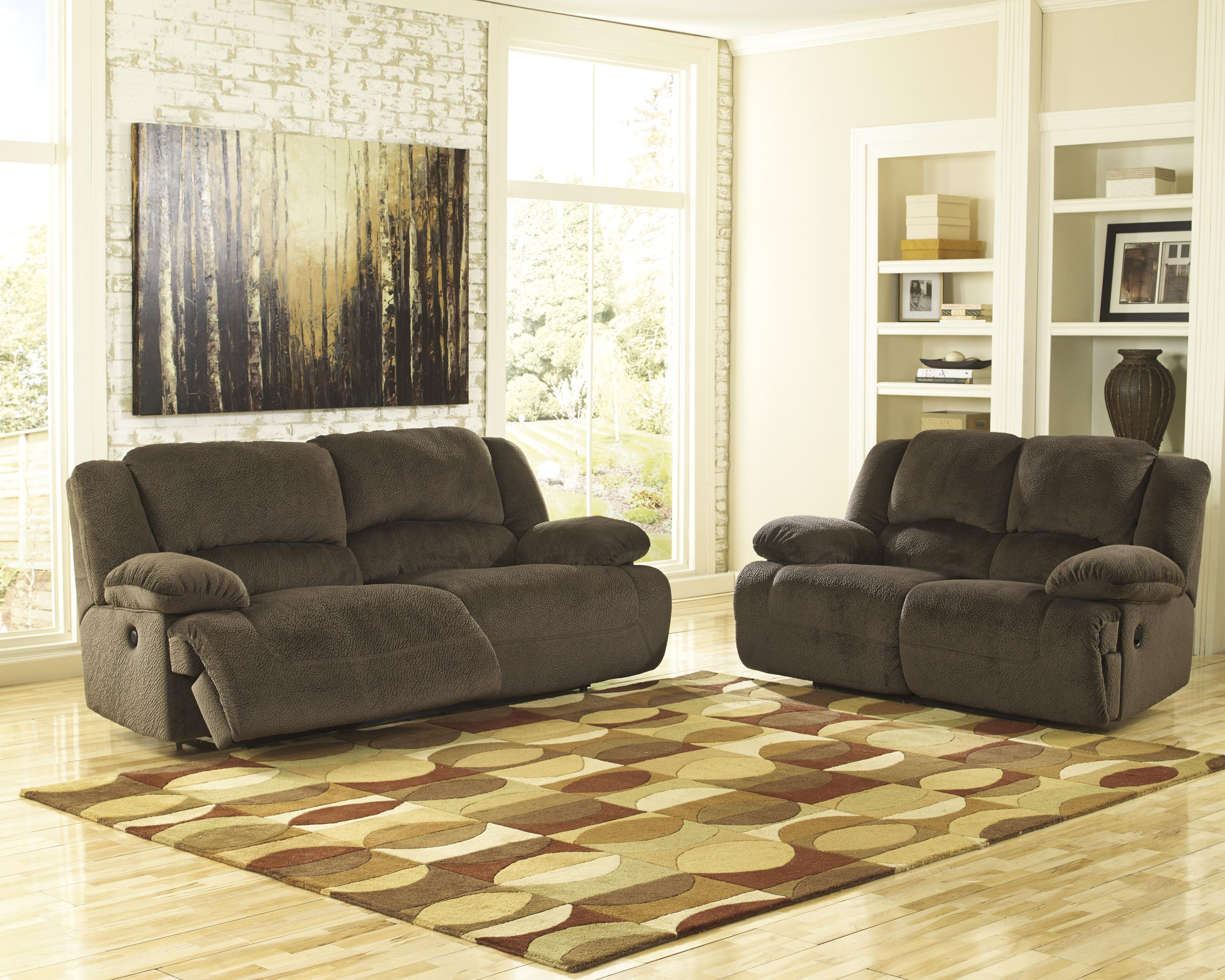 Signature Design by Ashley Toletta - Chocolate Casual Contemporary Reclining Power Loveseat - Wayside Furniture - Reclining Love Seats & Signature Design by Ashley Toletta - Chocolate Casual Contemporary ... islam-shia.org