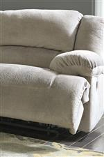 Casual Contemporary Style with Thick Pillow Arms and Divided Back