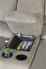 Console with Storage Sectional Piece Includes 2 Cup Holders