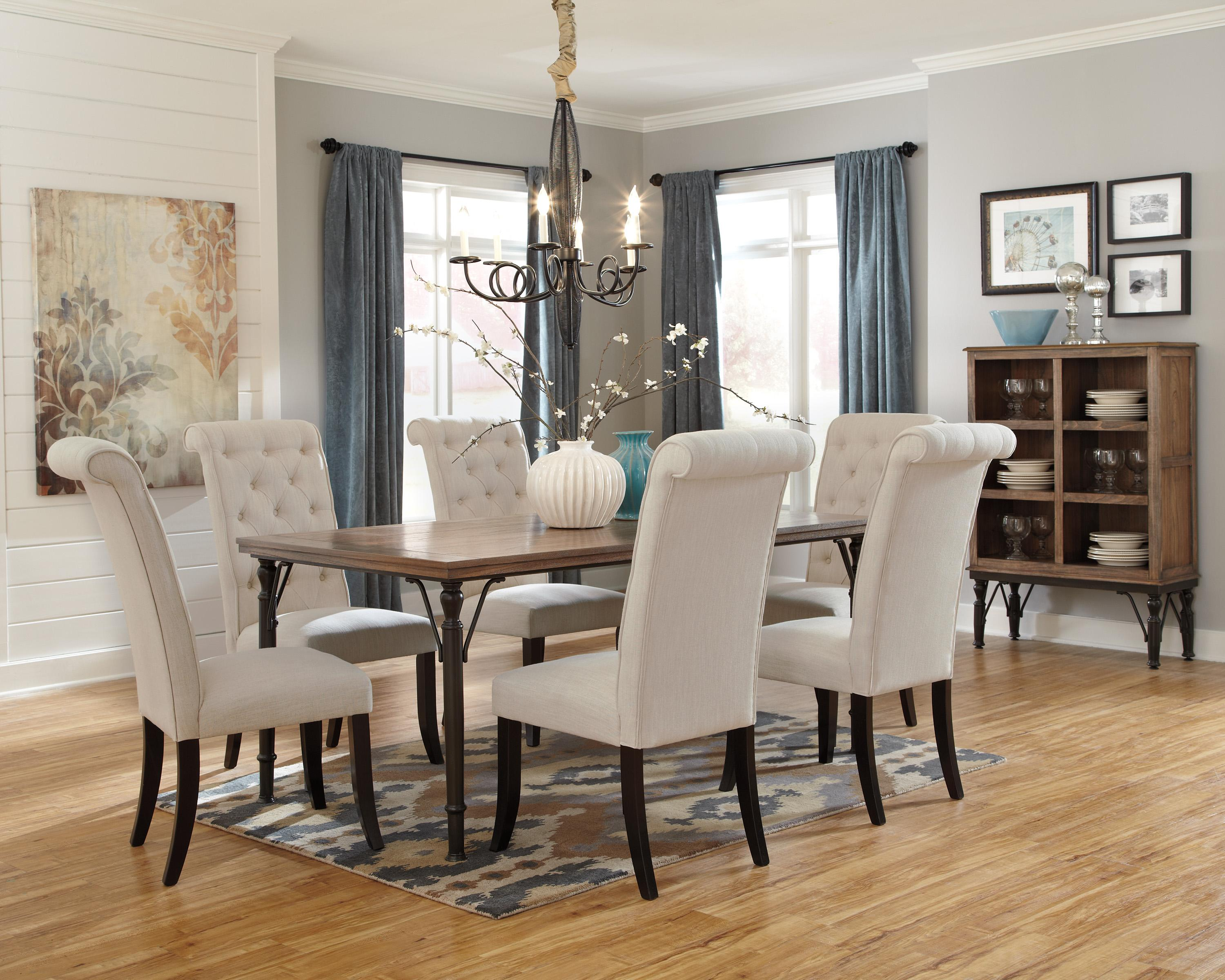 Ashley dining room furniture - Signature Design By Ashley Furniture Tripton 5 Piece Rectangular Dining Room Table Set W Wood Top Metal Legs Sam S Appliance Furniture Dining 5