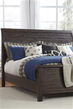 Sleigh Headboard with Lateral Slats