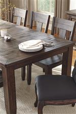 Rustic Rectangular Leg Table