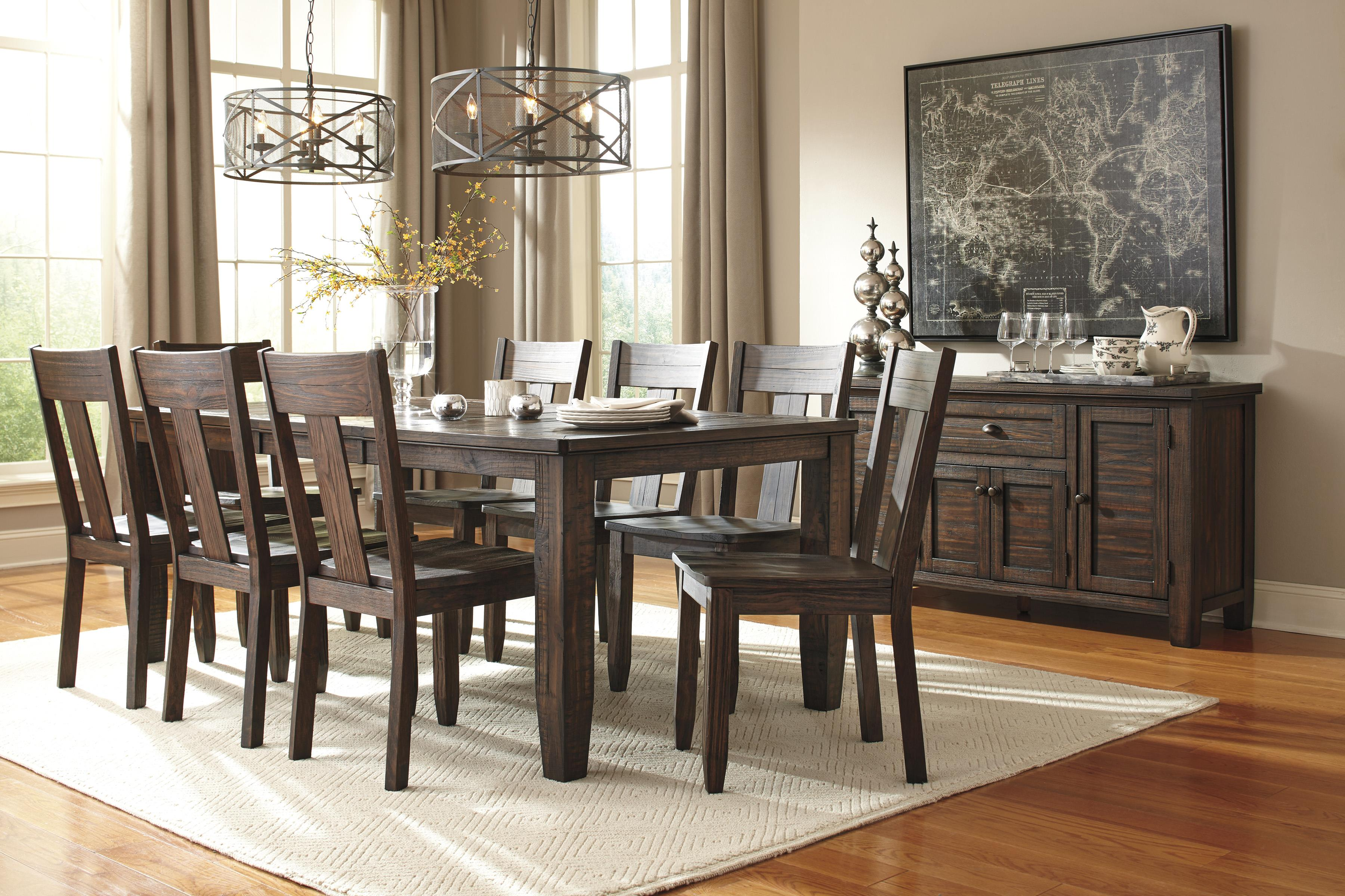 Signature Design By Ashley Trudell 5 Piece Round Dining Table Set With  Upholstered Side Chairs | Wayside Furniture | Dining 5 Piece Sets