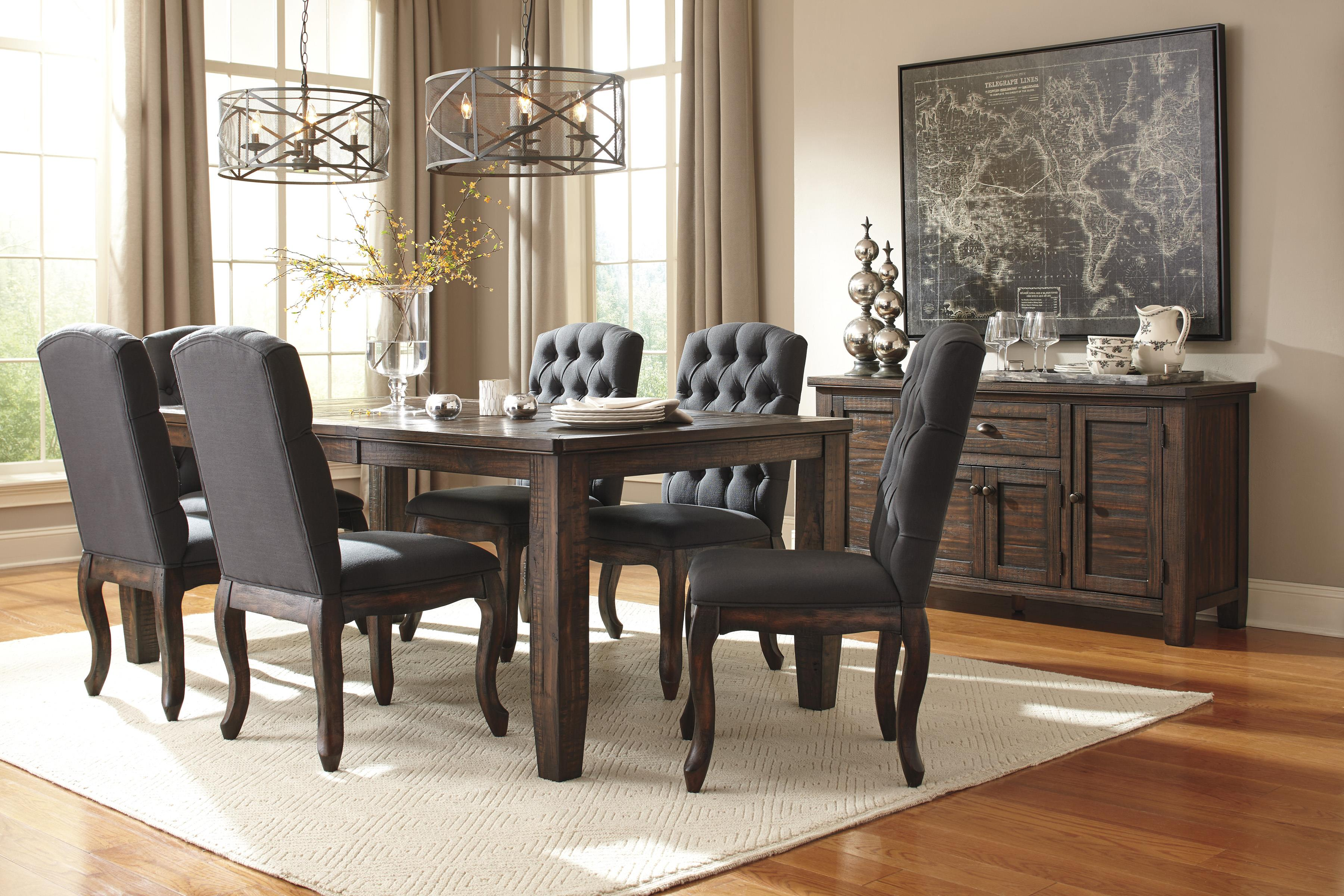Ashley Dining Room Furniture signature designashley trudell solid wood pine dining room