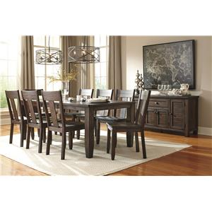 Signature Design by Ashley Trudell Solid Wood Pine Dining Room Server