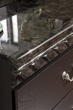 Faux Marble Tops on Storage Pieces with Decorative Border