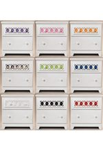 Customizable Color Panels on Beds and Top Drawers - 9 Options for Behind Egg-and-Dart Lattice (Clear Insert Optional)