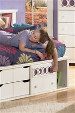 Bedside Bookcase Daybed Features Storage in Headboard and Footboard