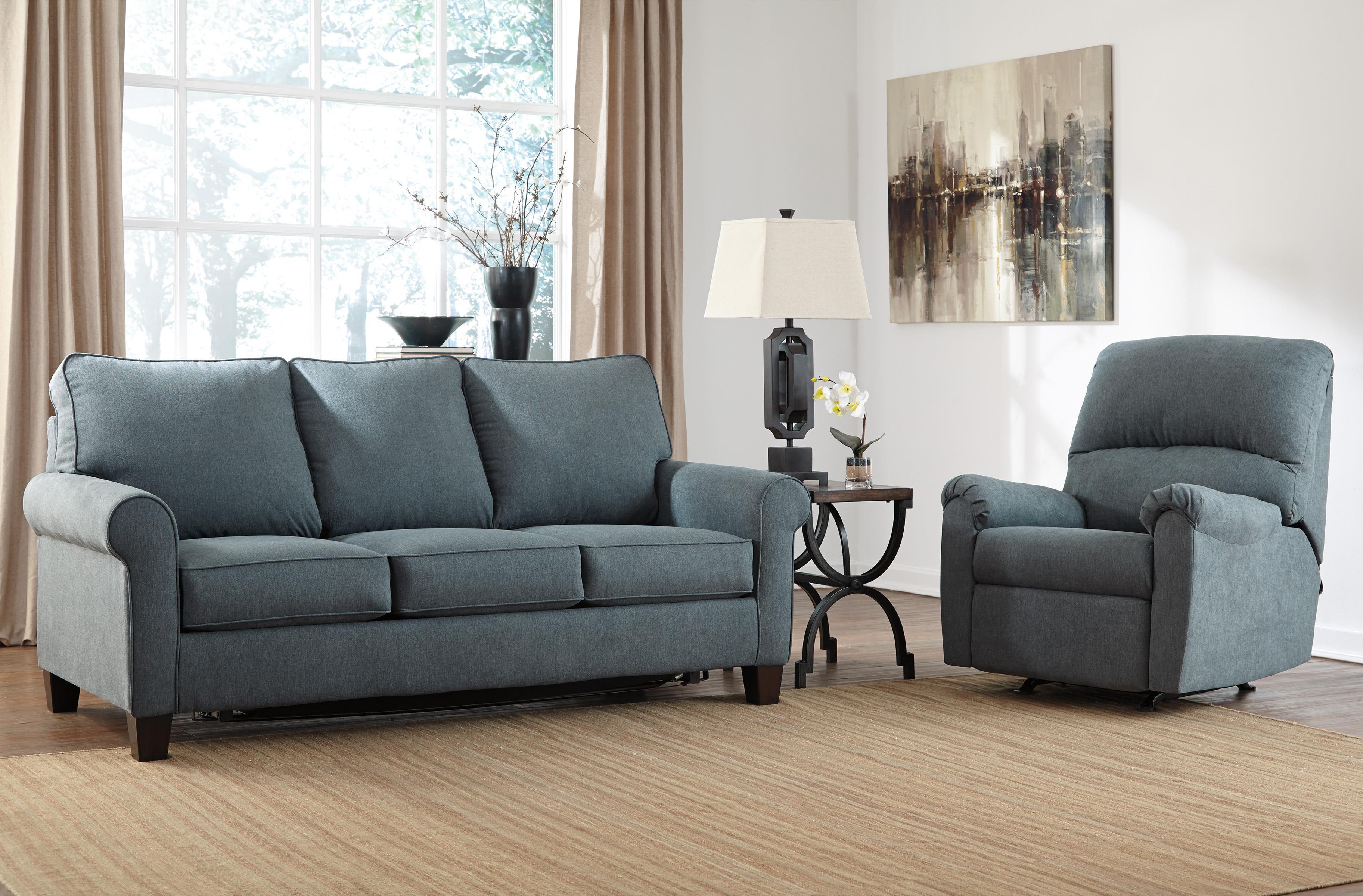 "Signature Design by Ashley Zeth Denim 78"" Full Sofa Sleeper"