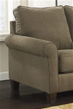 Contemporary Style with Rolled Arms and Box Seat Cushions
