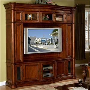 Ordinaire Signature Home Furnishings Lafayette Entertainment Center With Hand Touch  Light Fixture