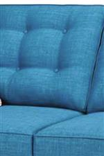 Button-Tufted Semi-Attached Back Cushions