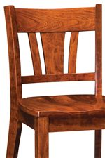 Splat Back Gives Chairs Transitional Elegance