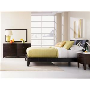Sitcom Cosmo East King Platform Bed With Leather Upholstered Headboard