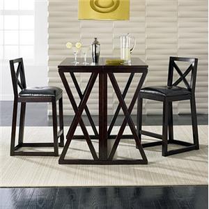 Sitcom Turin 3 Piece Bar Table And Barstool Set
