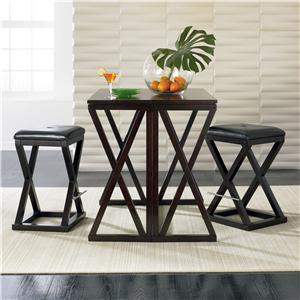 Sitcom Turin 3 Piece Bar Table And Barstool Set