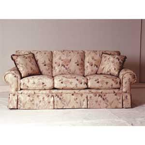 Sklar Peppler Silver 88 Inch Sofa