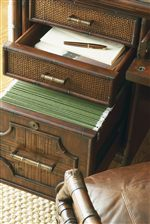 Open Storage Drawer and File Drawer in Isle of Palms Credenza
