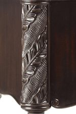 Banana Leaf Corner Post Carving Featured Throughout the Collection