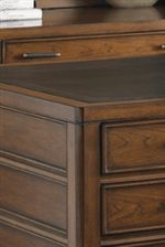 Select Desks Feature Leather Top Inserts with Gold Tooling