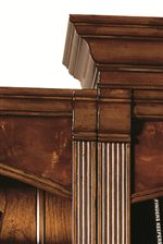 Reeded Pilasters and Classic Crown Moulding