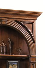 Display Shelves with Crown Moulding and Arched Gallery Shelves