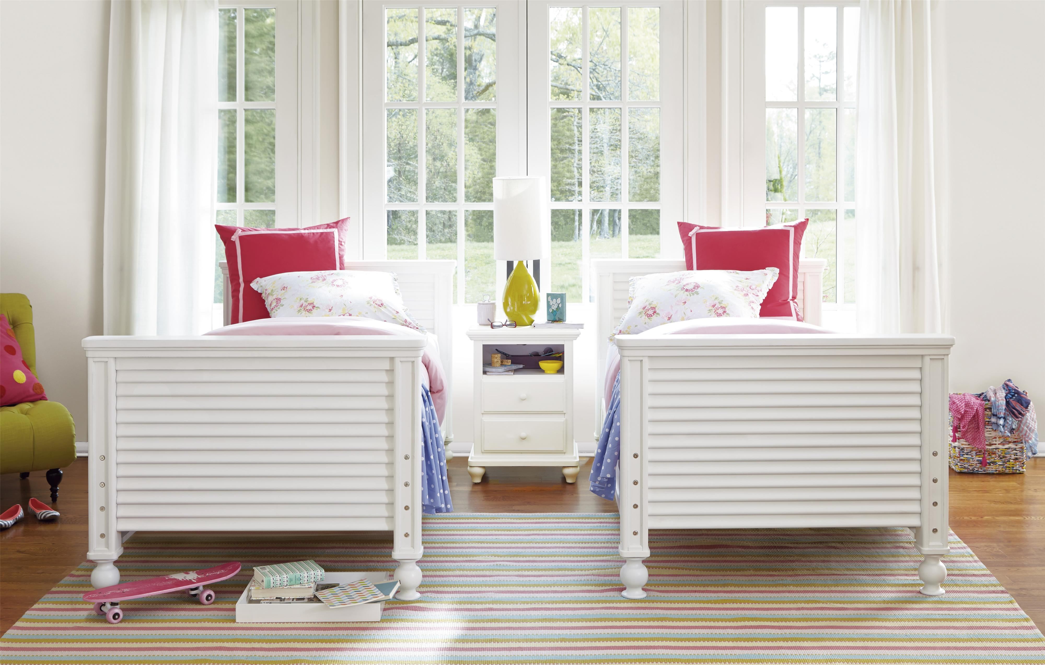 Smartstuff Black and White Twin Bedroom Group - Item Number: 437A T Bedroom Group 1
