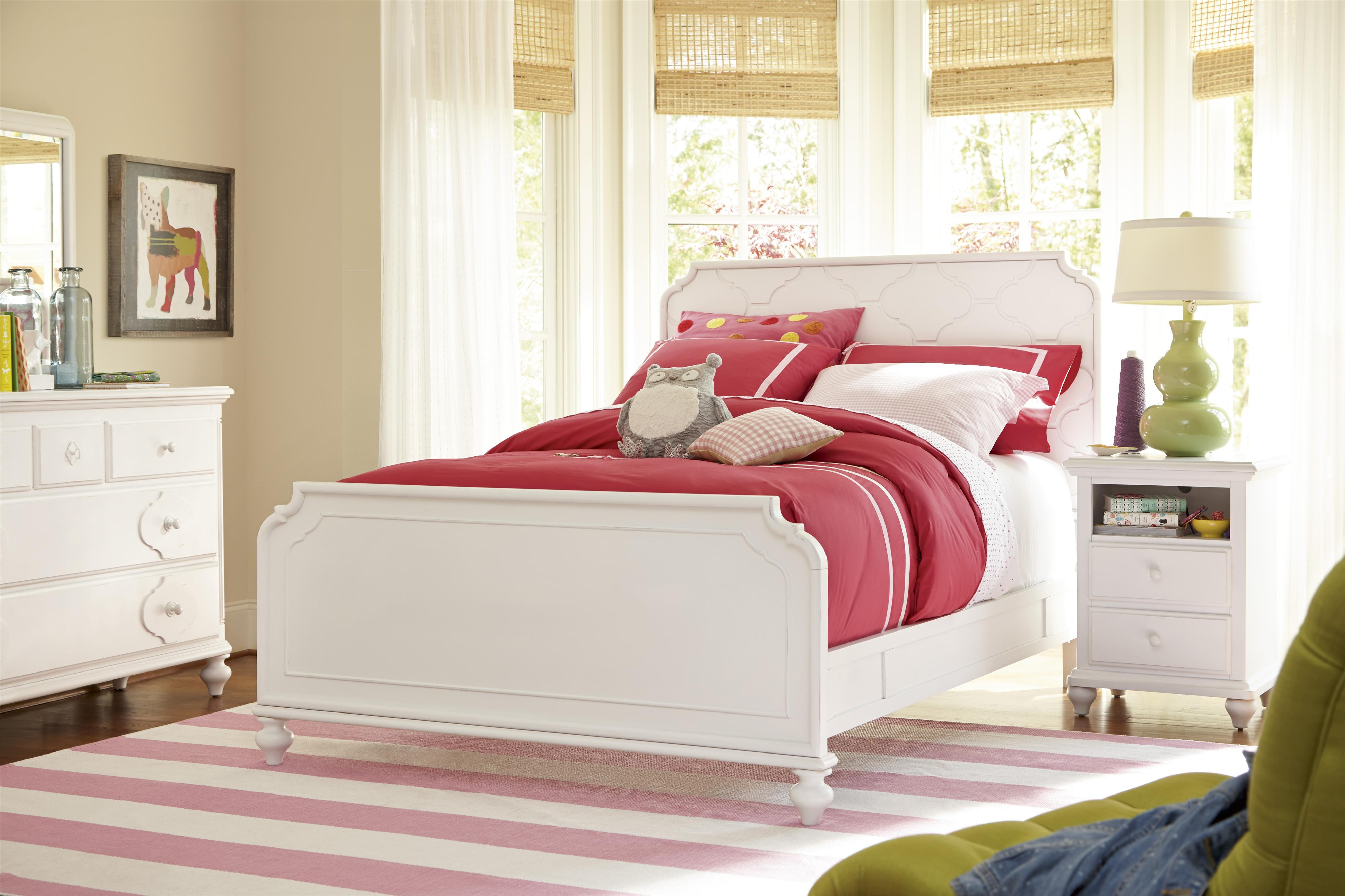 Smartstuff Black and White Twin Bedroom Group - Item Number: 437A T Bedroom Group 3