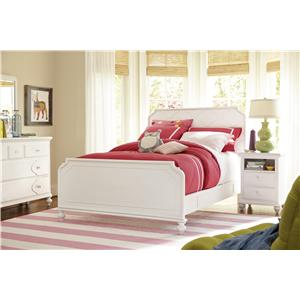 Smartstuff Black and White Twin Reading Bed with Arched Headboard and Low Footboard and Underbed Storage