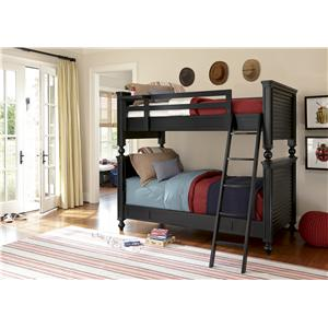 Smartstuff Black and White Twin American Classic Metal Bed with Spindle Posts
